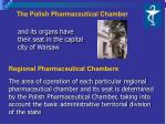 the polish pharmaceutical chamber