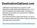 destinationoakland com