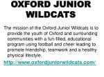 oxford junior wildcats