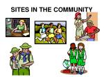 sites in the community