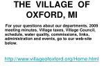 the village of oxford mi