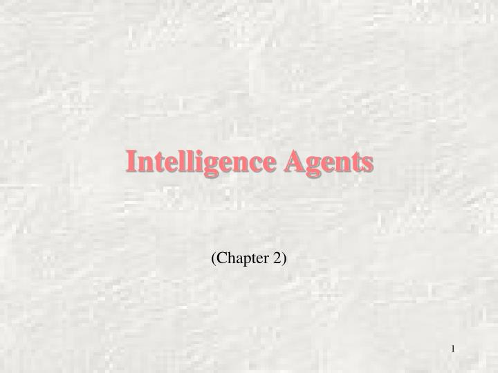intelligence agents n.