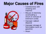 major causes of fires