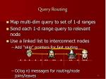query routing