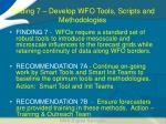 finding 7 develop wfo tools scripts and methodologies