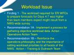 workload issue