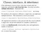 classes interfaces inheritance