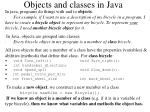 objects and classes in java