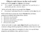 objects and classes in the real world