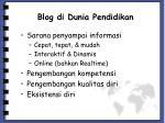blog di dunia pendidikan