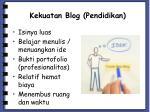 kekuatan blog pendidikan