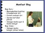 manfaat blog
