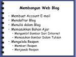 membangun web blog