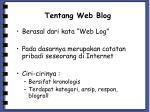 tentang web blog