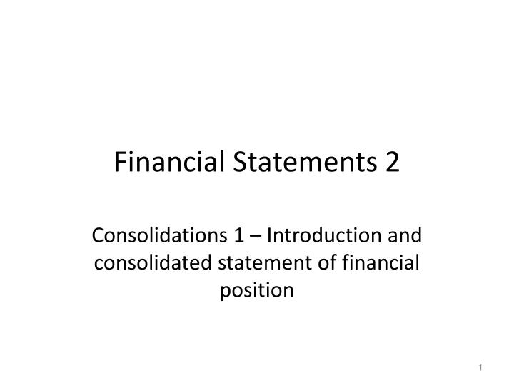 financial statements 2 n.