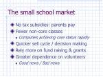 the small school market