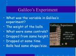 galileo s experiment
