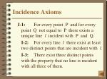 incidence axioms