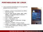 portabilidad de linux