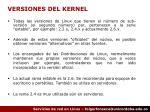 versiones del kernel