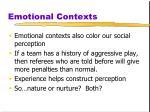 emotional contexts