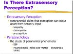 is there extrasensory perception