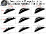 ionospheric footpoint of the hilatitude minima tilt vs press