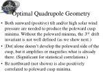 optimal quadrupole geometry