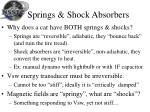 springs shock absorbers