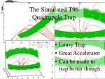 the simulated t96 quadrupole trap