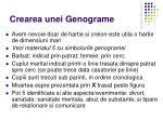 crearea unei genograme