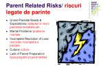 parent related risks riscuri legate de parinte