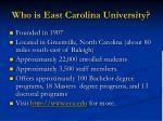 who is east carolina university