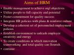 aims of hrm