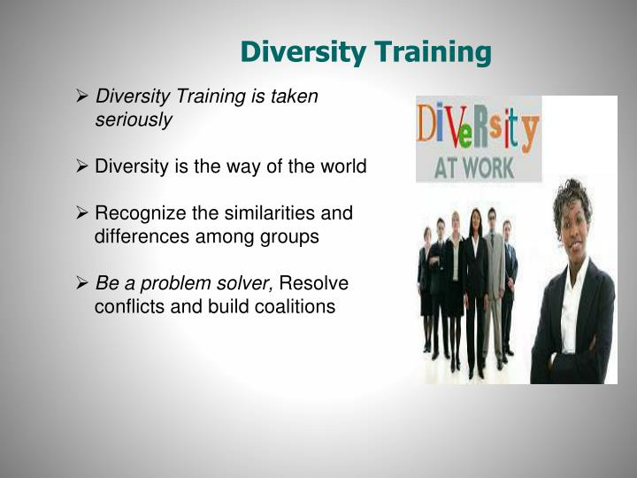 diversity training essay Diversity training this research paper diversity training and other 64,000+ term papers, college essay examples and free essays are available now on reviewessayscom autor: review • april 16, 2011 • research paper • 598 words (3 pages) • 766 views.