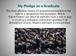 my pledge as a graduate