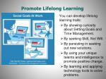 promote lifelong learning