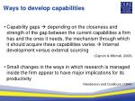 ways to develop capabilities