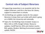 central role of subject librarians
