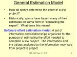 general estimation model