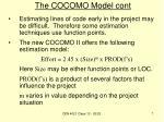 the cocomo model cont2