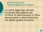 deportazione e trasferimento forzato