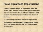 prove riguardo la deportazione