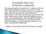 greenleaf s best test of servant leadership