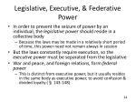 legislative executive federative power