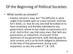 of the beginning of political societies2
