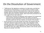 on the dissolution of government2