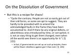 on the dissolution of government3