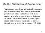 on the dissolution of government4