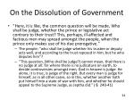 on the dissolution of government5